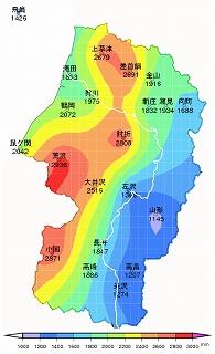 s-年間等降水量線図01