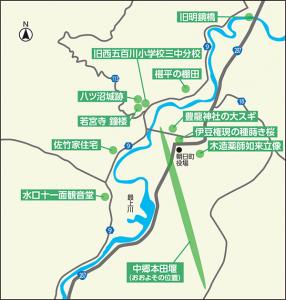 最上川・五百 川郷の宝物がたり地図
