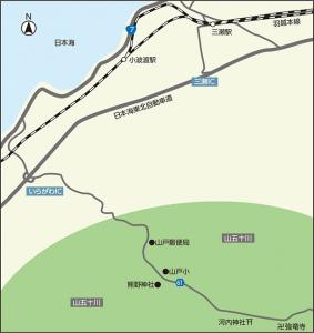 能と歌舞伎 伝承の里 山五十川地図