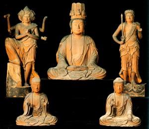 木造弥勒菩薩及諸尊像