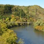 五百川峡谷にかかる太平橋