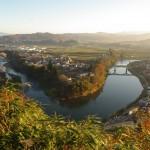 日本一公園から見た最上川の